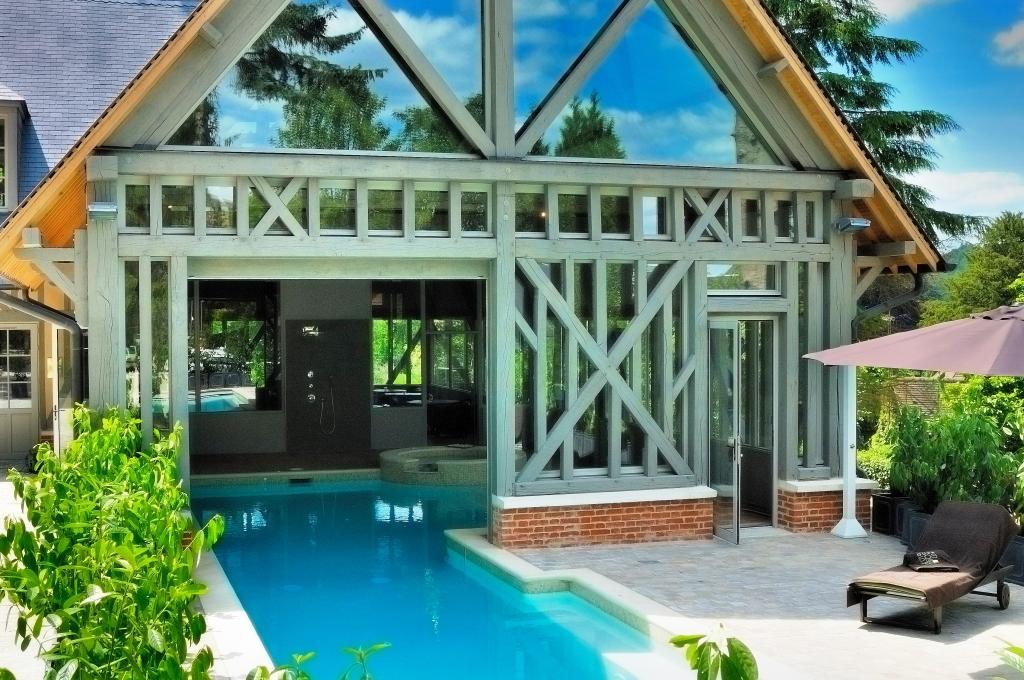 Les g tes maisons d 39 hotes de la licorne grand cerf - Gite piscine interieure normandie ...